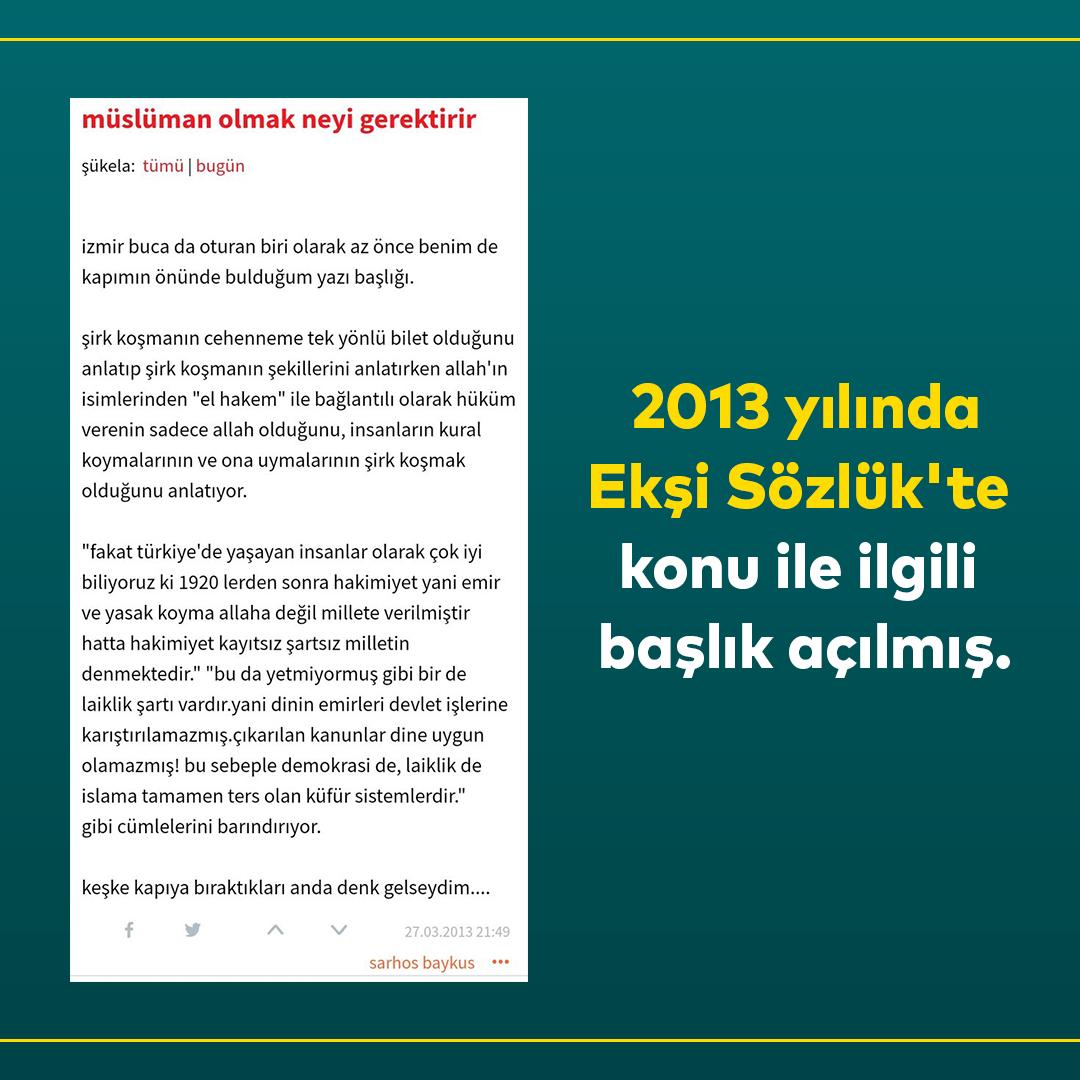 Furkan Vakfı Ankara'da Şeriat Bildirisi Ekşi Sözlük